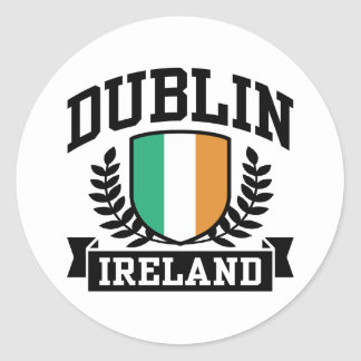 Dublin Round Sticker