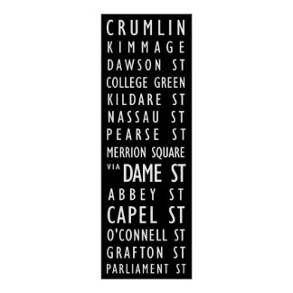 Dublin Vintage Transit Scroll Posters