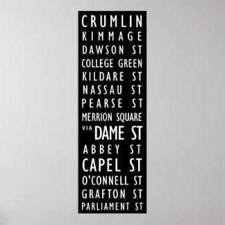 Dublin Vintage Transit Scroll Posters