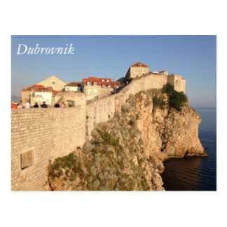 Dubrovnik City Walls Postcard