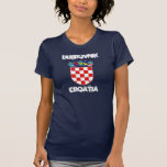 Dubrovnik, Croatia with coat of arms T Shirts