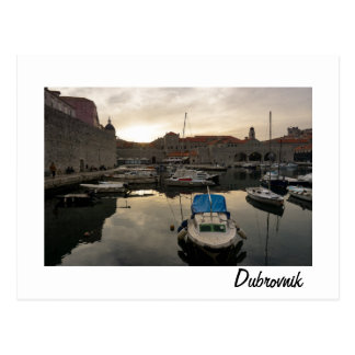 Dubrovnik Harbor Postcard