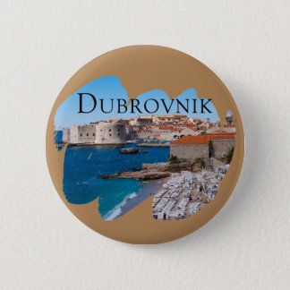 Dubrovnik with a View 6 Cm Round Badge
