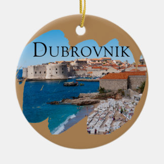 Dubrovnik with a View Christmas Ornament