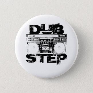 Dubstep Black Boombox 6 Cm Round Badge