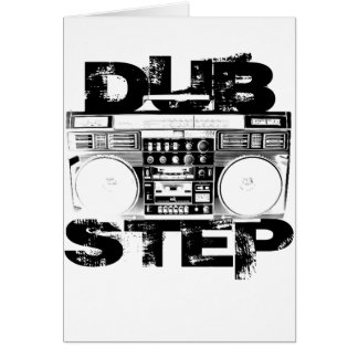 Dubstep Black Boombox Cards