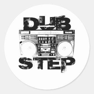 Dubstep Black Boombox Classic Round Sticker
