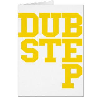 Dubstep Blockletter (Gold) Greeting Card