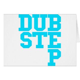 Dubstep Blockletter Greeting Card