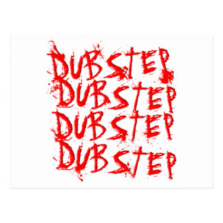 Dubstep Blood Repeat Postcard