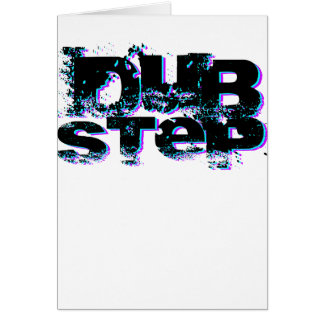 Dubstep Blue and Pink Greeting Cards