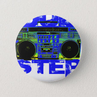 Dubstep Blue Boombox 6 Cm Round Badge