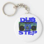 Dubstep Blue Boombox Keychains