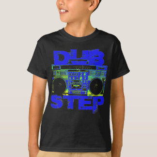 Dubstep Blue Boombox T-Shirt