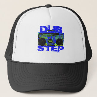 Dubstep Blue Boombox Trucker Hat