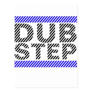 Dubstep Blue Postcard