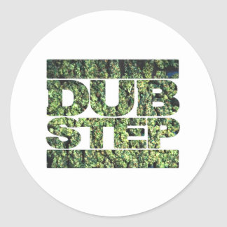DUBSTEP Buds Dubstep music Classic Round Sticker