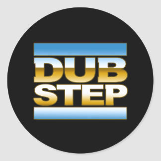 DUBSTEP chrome logo Classic Round Sticker