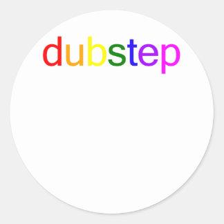 Dubstep Color Spectrum Classic Round Sticker