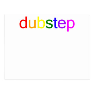Dubstep Color Spectrum Postcard