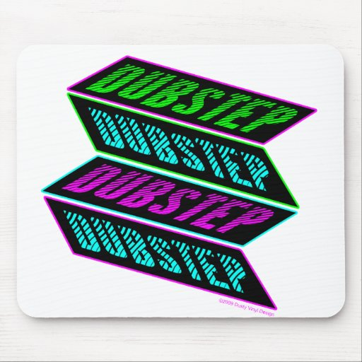 DUBSTEP computer mouse pad