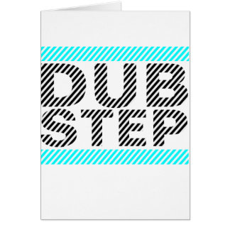 Dubstep Cyan Greeting Card