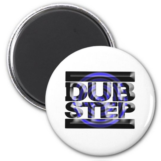 DUBSTEP dub step t shirt blue spin rusko caspa 6 Cm Round Magnet
