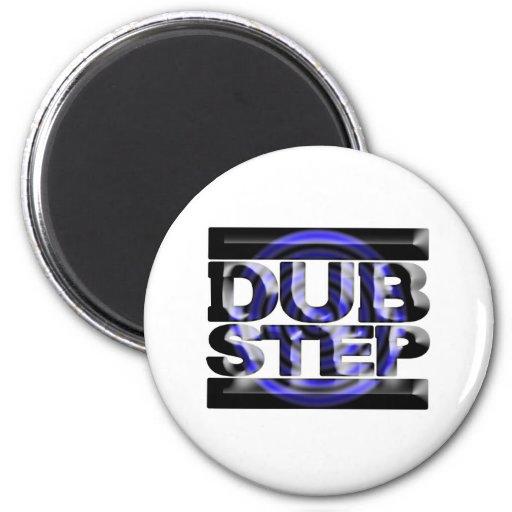 DUBSTEP dub step t shirt blue spin rusko caspa Refrigerator Magnet