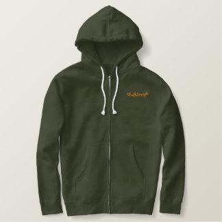 dubstep embroidered thermal hoodie