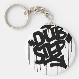 Dubstep FatCap Black Basic Round Button Key Ring