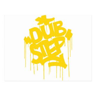 Dubstep FatCap Citrus Gold Postcard