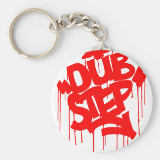 Dubstep FatCap Red Basic Round Button Key Ring