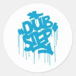Dubstep FatCap Sky Blue Classic Round Sticker
