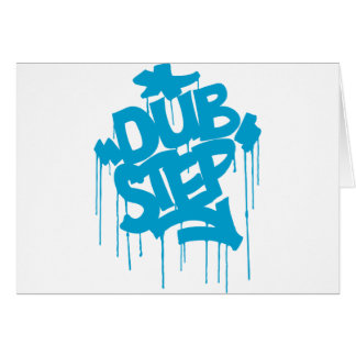 Dubstep FatCap Sky Blue Greeting Card