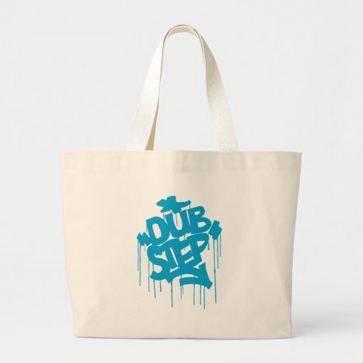Dubstep FatCap Sky Blue Jumbo Tote Bag