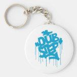 Dubstep FatCap Sky Blue Key Chains