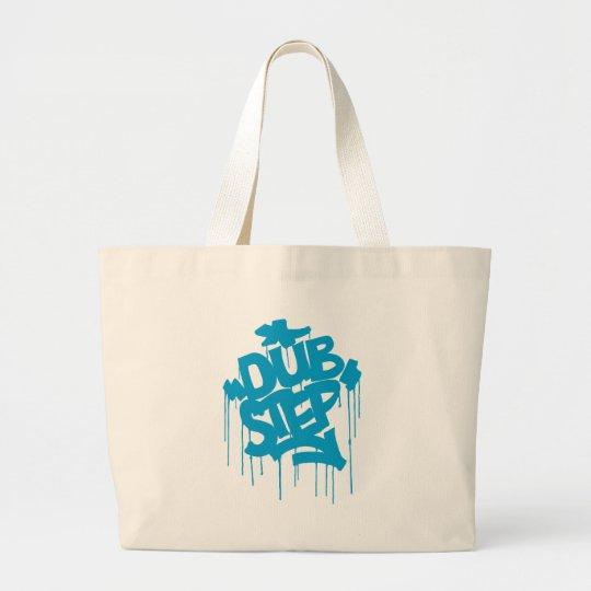 Dubstep FatCap Sky Blue Large Tote Bag