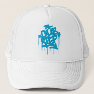 Dubstep FatCap Sky Blue Trucker Hat