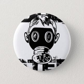 Dubstep Gas Mask 6 Cm Round Badge