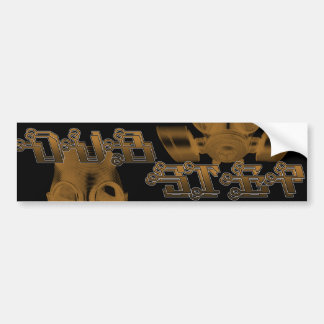 DUBSTEP GAS MASK BUMPER STICKER