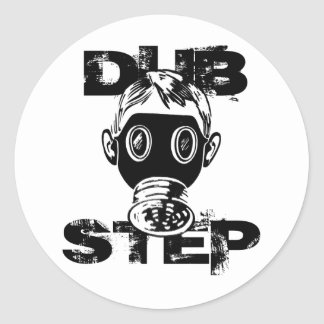 Dubstep Gas Mask Classic Round Sticker