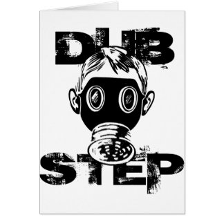 Dubstep Gas Mask Greeting Card