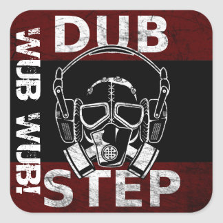 Dubstep gas mask & headphones CUSTOMIZABLE Square Sticker