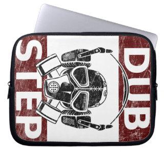 Dubstep gas mask & headphones laptop sleeve