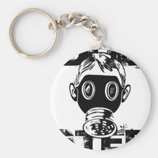 Dubstep Gas Mask Key Ring