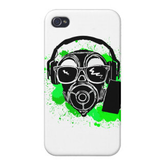 Dubstep Gasmask iPhone 4/4S Case