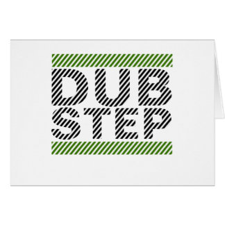 Dubstep Green Greeting Card