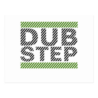 Dubstep Green Postcard