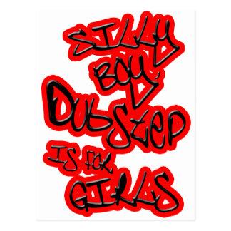 Dubstep is for girls gals ladies womens Dubstep Postcard