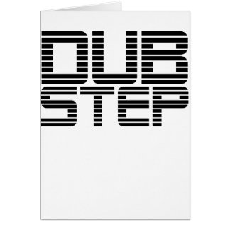 Dubstep Lined Text Greeting Card